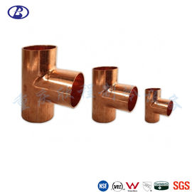 Wrought Copper Tee ASTM 1/2 Inch Refrigeration Pipe Fittings